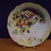 Handpainted Fruit Bowl decorated with Blackberries