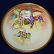 SALE Antique Pickard Bowl with Grapes by Beutlich