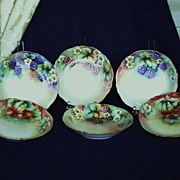 SALE Antique Limoges Handpainted Dessert Bowls