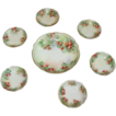 Antique Limoges Handpainted Dessert Set decorated with Strawberries