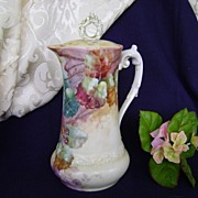 SALE Antique Limoge Handpainted Coffeepot