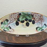 Antique Handpainted Bavaria Tray with Berries