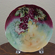 Antique Limoge Handpainted Bowl with Berries