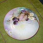 Handpainted Ginori Plate with Blackberries