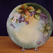 SALE Antique Bavaria Handpainted Plate with Blackberries