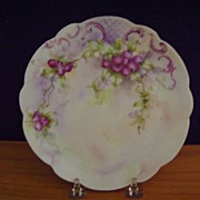 Vintage Handpainted Plate with Berries