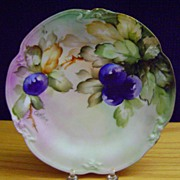 SALE Antique Limoges Handpainted Plate with Plums