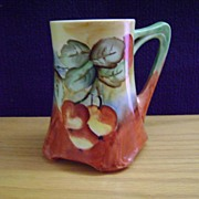 SALE Vintage Limoge Handpainted Mug decorated with Cherries