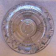 SALE Lovely sterling silver overlay platter with starburst base