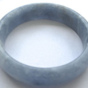 SALE PENDING Vintage estate Chinese lavender blue jade bangle