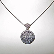 SOLD Estate diamond and 14k white gold locket and chain