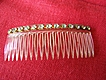 Vintage Lucite Hair Comb With Clear Rhinestones