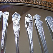 SALE 6 Silverplate Souvenir Spoons From 1939