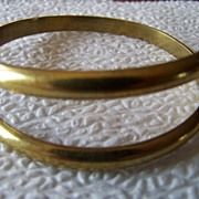 Brass Wrap Cuff Bracelet Signed