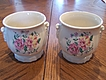 Royal Copley Set Of 2 Gorgeous Flower Planters