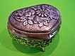 Vintage Heart Shaped Trinket Box