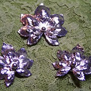 Signed Vintage Leaf Set Brooch and Earrings For Fall!