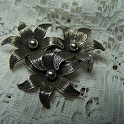 Vintage Stamped Beau Sterling Brooch Pin