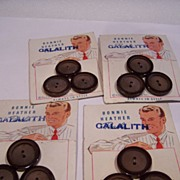 SALE 4 Vintage Button Sets on Original Display Cards  1950's