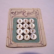 SALE Set Of 12 Vintage Buttons  Ocean Pearl