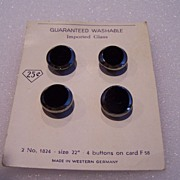 SALE Vintage Imported Glass Button Set