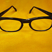 Vintage Men's Retro 1950's Black  Eyeglasses