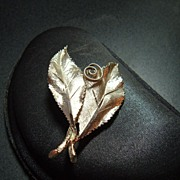 BSK Double Leaf Brooch