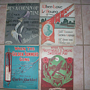 4 Piece lot of Antique Sheet Music all Circa 1906