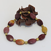 Mookaite Beaded Bracelet