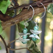 Pearl Earrings of Mint Green Fresh Water Pearls
