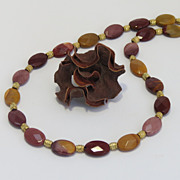 Mookaite Beaded Necklace