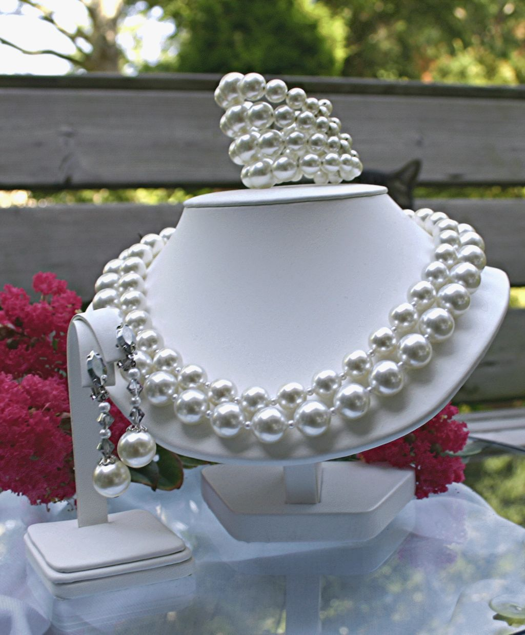 C1960, Signed Lewis Segal California, A Full Parure, Imitation Pearl