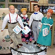 SALE Sale - I Love Lucy C1980 Lucy, Ricky, Fred & Ethel Dolls