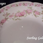 SOLD Set of 5 Delicate Charles Field Haviland LIMOGES Porcelain Berry Bowls with Pink Roses &