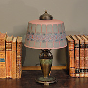 Original Moe Bridges Co. Reverse/ Obverse Painted Boudoir Lamp