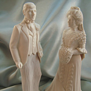 SALE PENDING Vintage Bride and Groom Decanters