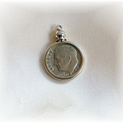 1971 Dime charm
