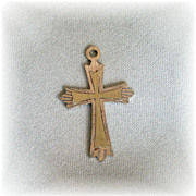 Vintage sterling silver cross charm from Italy