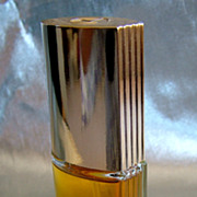 Lovely vintage cologne bottle Candid with ridges on bottle and lid