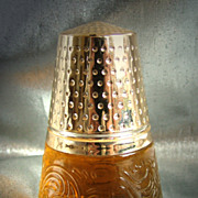 Vintage Brocade cologne in thimble top bottle