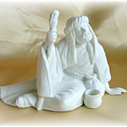 Nativity piece figure the Poor Man white porcelain mint