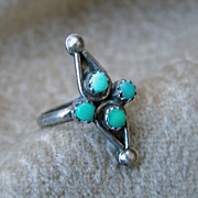 Vintage Turquoise Ring Zuni style