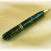 Vintage mechanical pencil with green and black marbling
