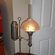 Student Table Lamp circa 1890's  with shade Free Shipping