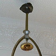 Circa 1880's Gas Hall/Entry Ceiling Fixture Electrified