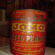 JOMO Salted Peanuts Tin Mueller-Keller Candy Co. St. Joseph, Mo.