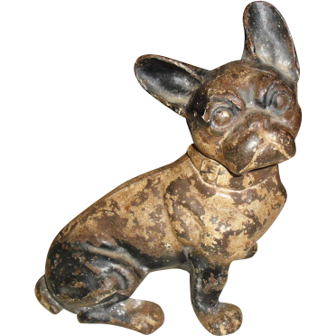Cast iron french bull dog doorstop hubley design 304 from stjoeaveantiques on ruby lane - Cast iron dog doorstop ...