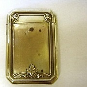 Art Nouveau Sterling Match Safe
