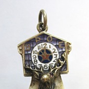 REDUCED Vintage 1926 14K Gold BPOE Elks Tooth Enamel Ruby Charm Pendant FOB