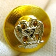 14K Gold 32nd Degree Enamel Masonic Eagle Lapel Pin